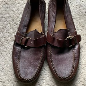 Dark Brown Pebble Leather Loafer